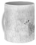 Lioness In Black And White Coffee Mug