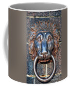 Lions Head Knocker Coffee Mug