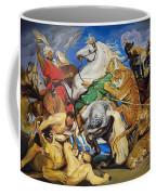 Lions Tigers And Leopard Hunt Homage To Rubens Coffee Mug