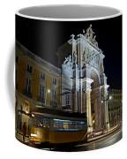 Lisbon - Portugal - Street Cars At Praca Do Comercio Or Terreiro Coffee Mug
