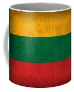 Lithuania Flag Vintage Distressed Finish Coffee Mug