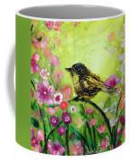 Little Bird In Green Coffee Mug
