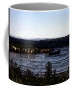 Little Black Boat Abstraction Coffee Mug