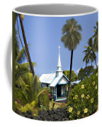 Little Blue Church Kona Coffee Mug