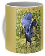 Little Blue Heron Blue Coffee Mug