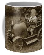 Little Boy In Toy Fire Engine Circa 1920 Coffee Mug