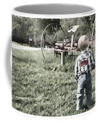 Little Boy On Farm Coffee Mug