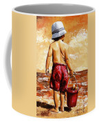 Little Boy On The Beach II Coffee Mug
