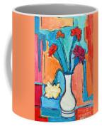 Little Carnations China Pink Flowers Coffee Mug by Ana Maria Edulescu