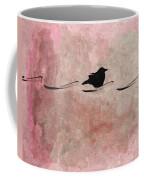 Little Crow In The Pink Coffee Mug