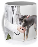 Little Dog At The Vet Coffee Mug