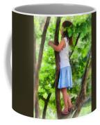 Little Girl Playing In Tree Coffee Mug