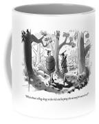 Little John And Robin Hood Walk Coffee Mug