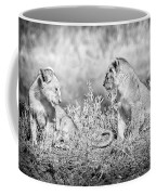 Little Lion Cub Brothers Coffee Mug by Adam Romanowicz