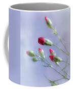 Little Red Carnations In The Sun Coffee Mug
