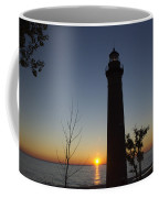 Little Sable Lighthouse At Sunset Coffee Mug