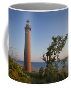 Little Sable Lighthouse By The Shore Coffee Mug