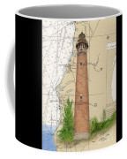 Little Sable Lighthouse Lake Mi Nautical Chart Map Art Cathy Peek Coffee Mug
