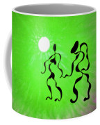 Lively Rhythms In Green Coffee Mug