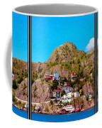 Living On The Edge Of The Battery Painterly Triptych Coffee Mug