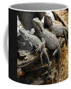 Lizards Coffee Mug by Les Cunliffe