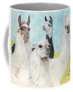 Llama Herd Camelid Farm Ranch Animal Art Coffee Mug