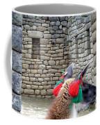 Llama Touring Machu Picchu Coffee Mug