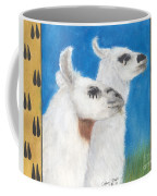Llamas Tracks Farm Ranch Animal Art Camelid Coffee Mug