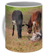 Lmao  Mules And Zebra - Featured In Wildlife Group Coffee Mug