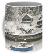 Lobster Boat After Snowstorm In Tenants Harbor Maine Coffee Mug by Keith Webber Jr