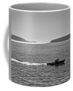 Lobster Boat And Islands Off Acadia National Park In Maine Coffee Mug