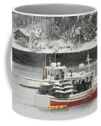 Lobster Boats After Snowstorm In Tenants Harbor Maine Coffee Mug by Keith Webber Jr