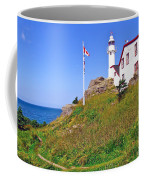 Lobster Cove Lighthouse With Blue Sky In Gros Morne Np-nl Coffee Mug