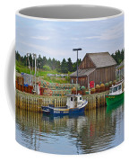 Lobster Fishing Baskets And Boats In Forillon Np-qc Coffee Mug