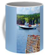 Lobster Trap In Maine Coffee Mug by Olivier Le Queinec
