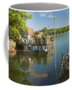 Lobster Traps On Pier In Round Pound On The Coast Of Maine Coffee Mug