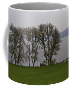 Loch Ness And Boat Jetty Next To Urquhart Castle Coffee Mug
