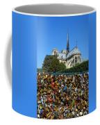 Locks Galore On The Pont De L'archeveche In Paris Coffee Mug