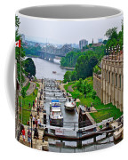 Locks On Rideau Canal East Of Parliament Building In Ottawa-on Coffee Mug