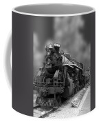 Locomotive 639 Type 2 8 2 Front And Side View Bw Coffee Mug