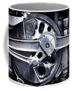 Locomotive Drive Wheels Coffee Mug by Olivier Le Queinec