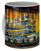 Locomotive On A Wall Coffee Mug