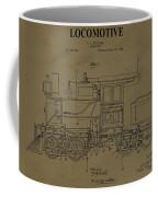 Locomotive Patent Postcard Coffee Mug