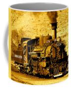 Sepia Locomotive Coal Burning Train Engine   Coffee Mug