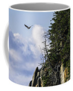 Lofty Bald Eagle Surveys Maines Bold Coast Coffee Mug