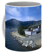 Log Cabin In Carcross Coffee Mug