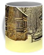 Log Cabin In The Snow Coffee Mug
