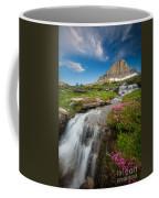 Logan Pass Cascades Coffee Mug