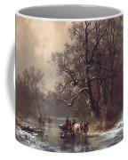 Loggers On A Frozen Waterway Coffee Mug