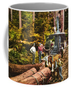 Logging With Steam Donkey Engine Near Olympia Washington Circa 1900 Coffee Mug